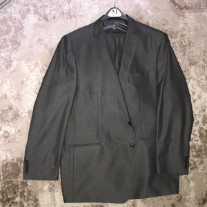 Men's Silverish Gray Calvin Klein Suit